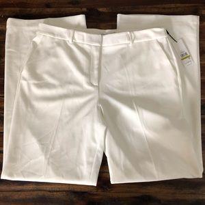 Calvin Klein Wide Leg Pant Soft White Size 14